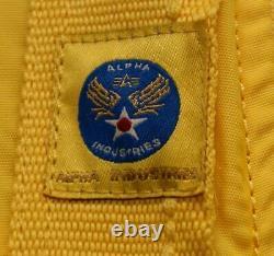 Flight Jacket MA1 Light Military US Pilot Prop Original Alpha Industries Bomber