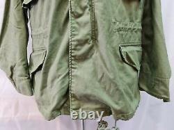 Genuine 1990s Alpha Ind US Olive Green OG 107 M65 Combat Jacket Medium Reg #14