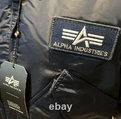 Genuine Alpha Industries CWU 45 Rep Blue Core Line Flight Bomber Jacket