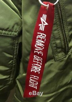 Genuine Alpha Industries Core Line Flight CWU 45 Sage Green Bomber Jacket