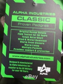Genuine Alpha Industries Core Line Flight CWU Black Bomber Jacket