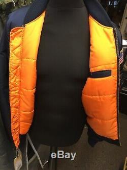Genuine Alpha Industries MA-1 VF Rep Blue NASA Edition Slim Fit Bomber Jacket