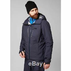 Helly Hansen Alpha Shell Jacket Men's Medium, Graphite Blue