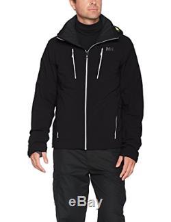 Helly Hansen Men's Alpha 3.0 Waterproof Insulated Ski Jacket, Black, Medium