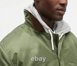 J. CREW x ALPHA INDUSTRIES barn jacket insulated olive green military puffer M nr