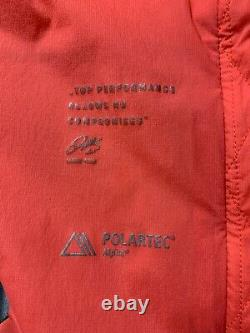 KJUS Polartec Alpha Hooded Jacket Size M Coral Full Zip Lightweight Insulated