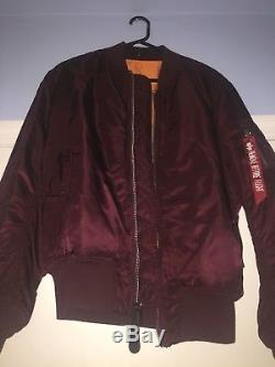 Kanye West, Saint Pablo Bomber Jacket, Alpha Industries, Medium