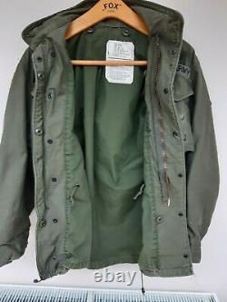 M65 US Army Alpha Jacket+liner Badged Vietnam 101st AirborneUS Small (UK Med)
