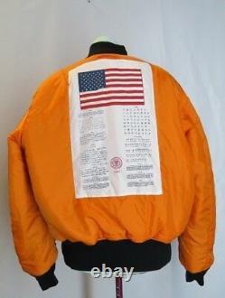MADE IN USA Alpha Industries Pilot Flight Jacket US Army Vintage ALPHA SZ M
