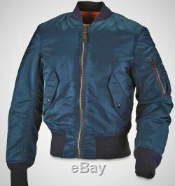 MA-1 Alpha Industries Pilot Flight US Air Force Bomber Crew Jacket Navy Blue