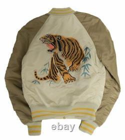 Men's Brand New Alpha Industries Tiger Souvenir Fashion Design Topic Era Jacket