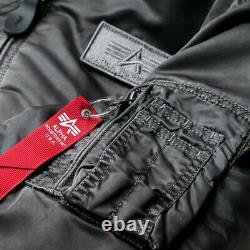 Mens Alpha Industries D-TEC Battlewash Hooded MA-1 Jacket