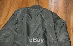 Mens Alpha Industries Jacket Medium BNWT Honor Flight Jacket Sage Green
