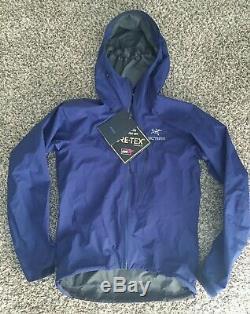 Mens Arcteryx Alpha SL Jacket Gore-Tex Paclite Medium Corvo Blue Superlight