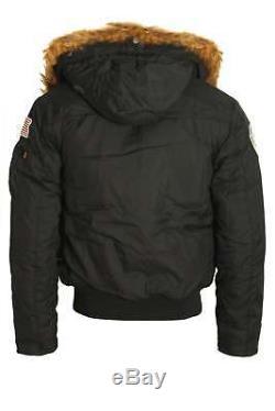 Mens Bomber Jacket ALPHA INDUSTRIES Polar Jacket SV Black
