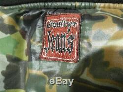 Mens Gaultier Jeans Faces Reversible Black + Camou Bomber Jacket M-l Alpha F39