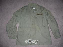 Military Medium Short 1969 Fatigue M65 Field Jacket Coat OG107 Vietnam 111