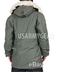 NEW US Army Military Extreme Cold Weather N-3B Snorkel Parka Jacket Coat MEDIUM