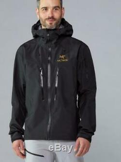 NEW with TAGS Arc'teryx ALPHA SV BLACK 24K Jacket = Mens MEDIUM