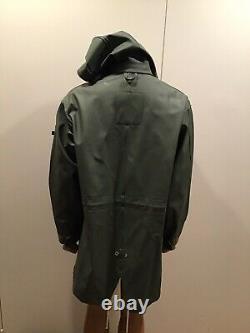 NWT $545 Stutterheim Raincoats X Alpha Industries M-65 Fishtail Parka Jacket M