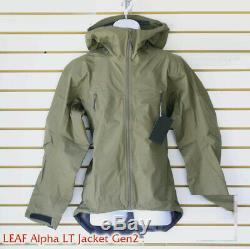 NWT Arc'teryx LEAF Alpha Jacket LT Gen 2 Ranger Green Made in Canada Military