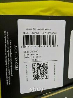 NWT Arcteryx Alpha AR Jacket Medium Mens