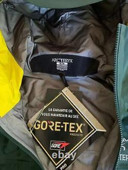NWT New Arc'teryx Alpha SV Goretex Pro JACKET MENSSIZEMZevan Green