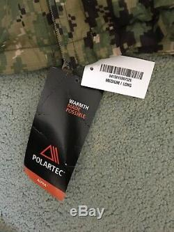 NWT Patagonia Polartec Alpha L3A Light Loft Shell Wind Jacket Multicam Med. Long