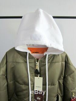NWT VETEMENTS x ALPHA REVERSIBLE HOODED BOMBER JACKET $2,065 (ARMY, MEDIUM)