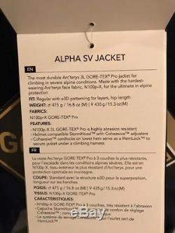 NWTs Arc'teryx Men's Alpha SV Gore-Tex Pro Jacket. Medium. Inkwell (blue)($749)