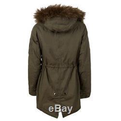 New Alpha Industries J4 Fishtail Parka Olive Xs-l Insulated Jacket Faux Fur