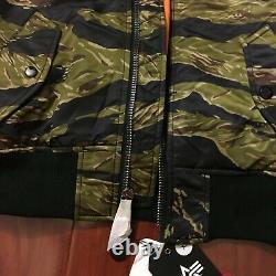 New Alpha Industries Ma-1 Natus Jacket Tiger Camo Hooded Mjm47506c1 Men Size Xs
