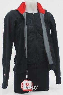 New! Castelli Mens Alpha Cycling Jacket Black Size Medium