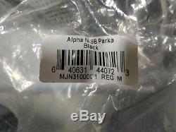 New Men's Alpha Industries Black N-3b Parka Jacket Medium
