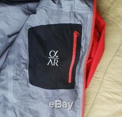 New Men's Arc'teryx Alpha Ar Gore-tex Pro Jacket, Med, Diablo Red
