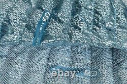 New Men's Columbia Titanium Alpha Trail Down Jacket 3D Omni Heat Sz M Blue $240