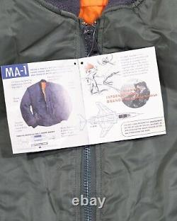 New Old Stock 90's Alpha Industries Ma-1 Intermediate Flyers Jacket (in Bag)