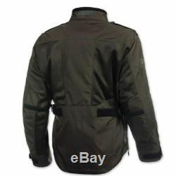 Olympia Mens Alpha Jacket, Loden, Medium 243-414003 + Med BikeBandit Gloves