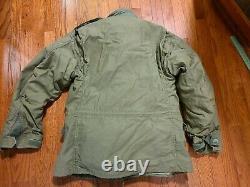 Original 1969 M65 Vietnam Field Jacket Alpha Ind. Cotton Sateen OG 107 MEDIUM