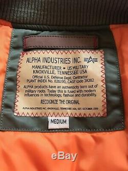 Original Alpha Industries MA1 flight Jacket Slim Fit Small Medium