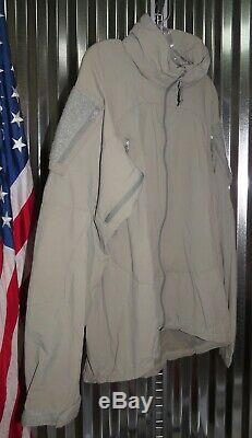 Patagonia Alpha Grey Medium Long Soft Shell Level 5 Combat Jacket Coat L5 PCU