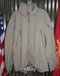 Patagonia Alpha Grey Medium Regular Soft Shell Level 5 Combat Jacket L5 PCU