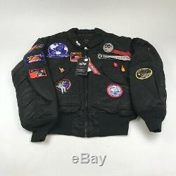 Pintrill X Alpha Industries'space Race' Flight Jackets Cjp49500c1 Men's Medium