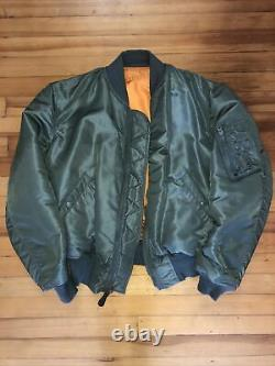 RARE 1963 alpha industries ma-1 bomber jacket Authentic Vintage