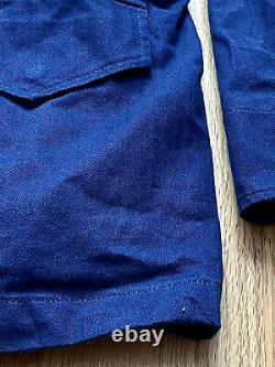 RARE $550 3Sixteen x Alpha Industries Indigo Herringbone M65 Jacket Size M MiUSA