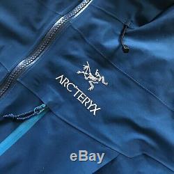 RRP£630 Arcteryx Alpha SV Goretex Pro Jacket Mens Medium Blue Beta Theta AR LT
