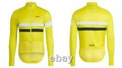 Rapha brevet insulated yellow hi viz cycling jacket medium nwt Polertec Alpha
