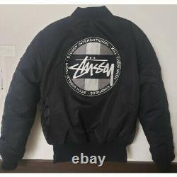 STUSSY × ALPHA INDUSTRIES 35th anniversary MA-1 Black M size Used Flight jacket