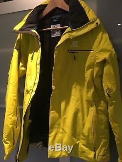 Salomon Brilliant Ski Jacket Alpha Yellow Size Medium (M)
