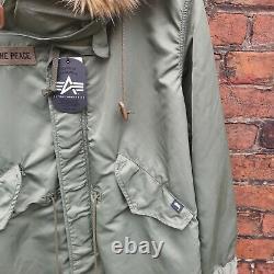 Stussy X Alpha Industries Collaboration Parka Jacket Green